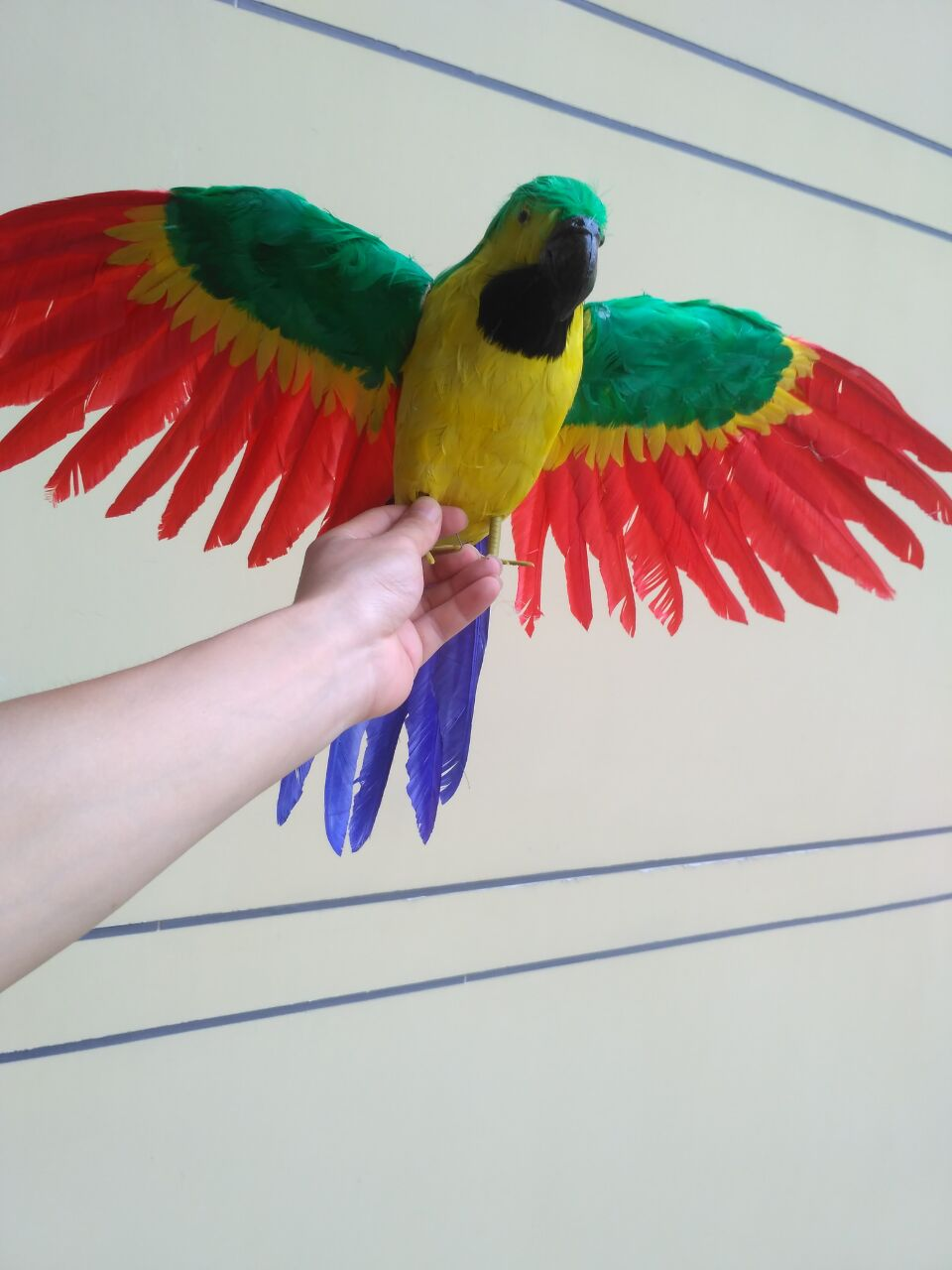 new simulation green&yellow parrot toy plastic&furs wings bird doll gift about 60x40cm 1354 цена и фото