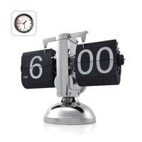 Đen Retro Lật Xuống Clock-Gear Nội Bộ Điều Hành Lật Đồng Hồ Nhà USA Shipping