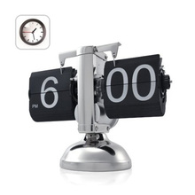 Черный Ретро Flip Down Часы-Внутренний Gear Управляется Флип Часы Дома США Доставка