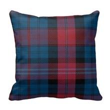Fabulous Evans Tartan Pillow Case (Size: 45x45cm) Free Shipping
