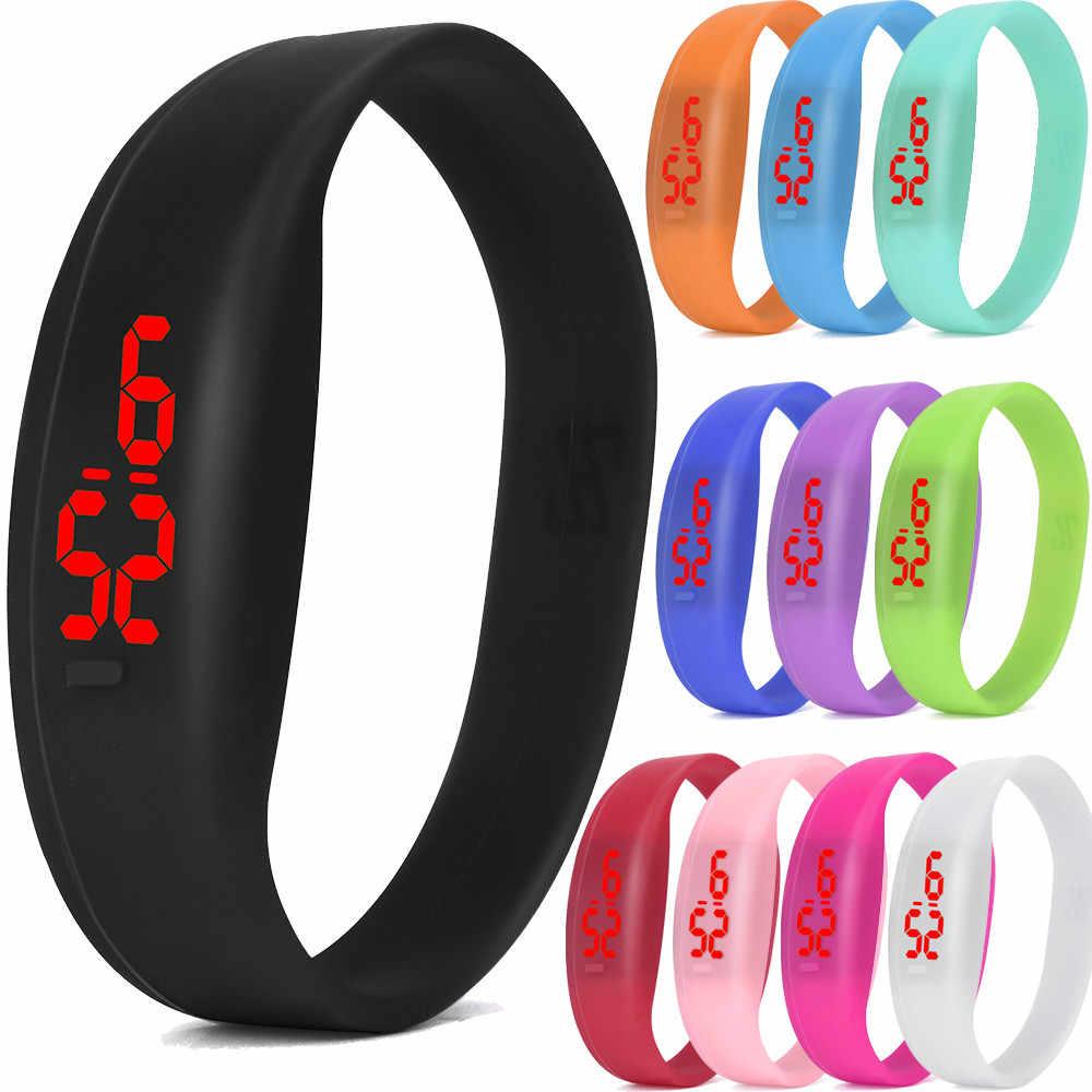 Reloj deportivo LED Digital de moda reloj de pulsera Unisex con banda de silicona reloj electrónico para hombre para mujer reloj de moda gif para hombre al aire libre sp