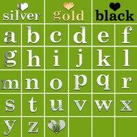 Funlife alta qualidade espelho de prata diy criativo personalizado 26 inglês letras minúsculas colar comércio exterior adesivos de parede msl027