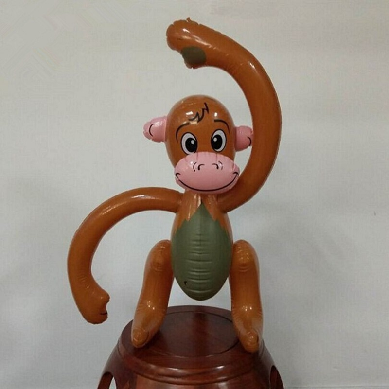 55CM Inflatable Jungle Monkey Toy Tropical Animal Chimp Ape Party Prop Toys P15