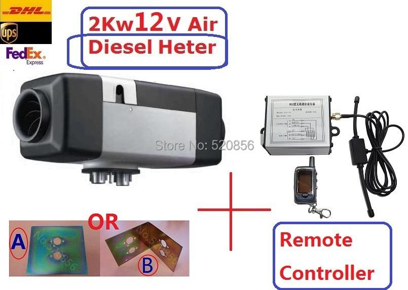 Envío gratis (2kw 12V Air Diesel Calefactor + CONTROL REMOTO + - Electrónica del Automóvil - foto 1