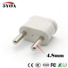 2 stücke US USA eu EURO Europa Travel Power Plug Adapter Ladegerät Converter für USA reisestecker adapter konverter Weiß