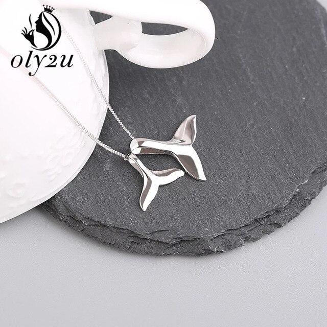 Купить женское ожерелье в форме кита oly2u ожерелье с двумя хвостами картинки