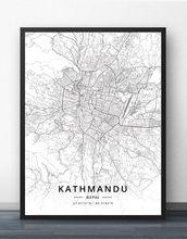 Плакат с картой Катманду Непала