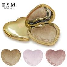 D.S.M Love Glow Highlighter Makeup Powder سطع مسحوق مقاوم للماء النفط السيطرة على الوجه تسليط الضوء المخفي ماكياج مستحضرات التجميل