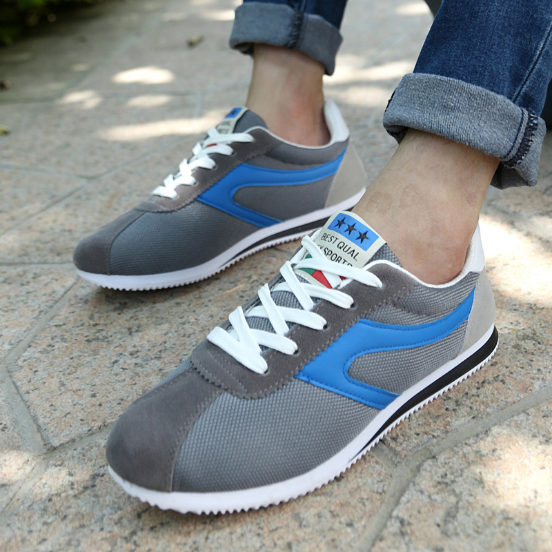 Respirável Casuais Deslizamento Para Malha Homens cinza Da Outono Moda azul Sapatos Os De Preto Primavera Ar 115 EwxIvAqq