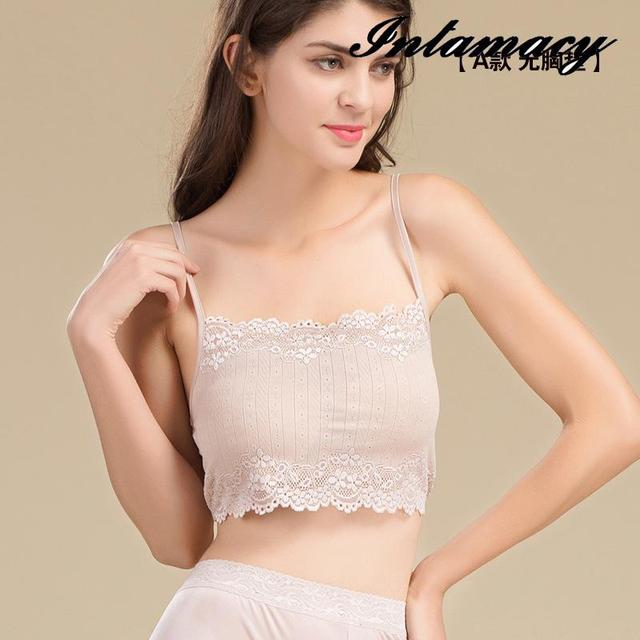 The New 100% real Silk Knitted Lace Bra Adjustable Sling Sexy Underwear Comfortable Backing