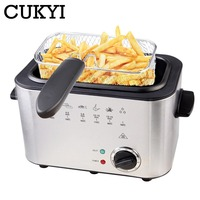 CUKYI 220V 1200W Constant temperature electric frying machine multifunctional household smokeless commercial Deep fryers