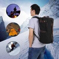 New High Quality Men Vintage Canvas Backpack Rucksack Laptop Shoulder Outdoor Duffle Bag Free Shipping