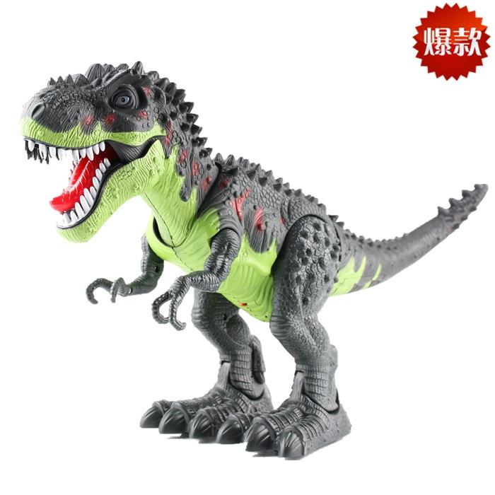 novo dinossauro eletrico grande tamanho andando dinossauro robo brinquedo pode andar fazer som com luz tyrannosaurus
