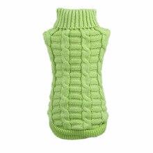 Случайный цвет Собака зима сохраняет тепло джемпер свитер одежда для щенка Трикотажный костюм для кошки пальто для маленьких средних и больших домашних животных собак