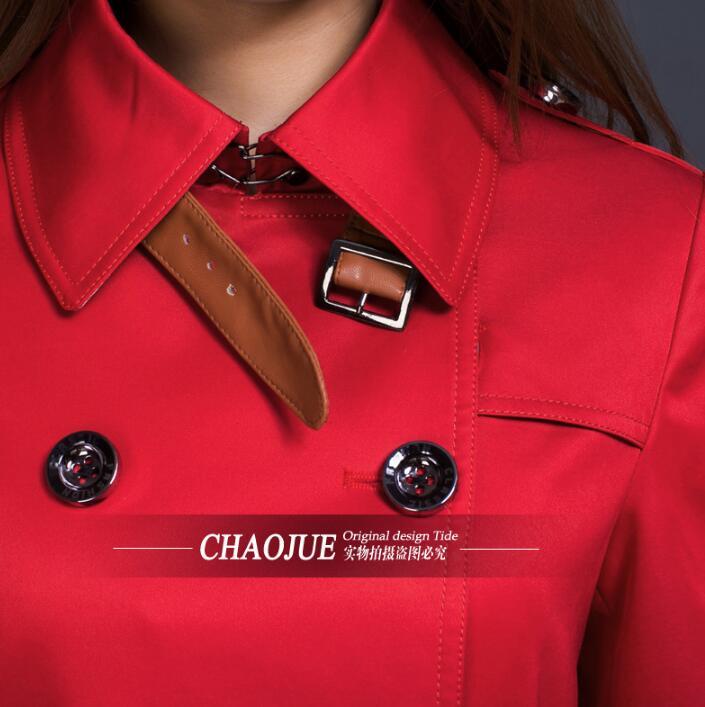 Femme Blanc Casaco 2019 Vêtements Automne Pardessus Mode Rouge Pour Mince Feminino Courte Printemps blanc Femmes Européenne Manteau Tranchée Rouge q4f6rwnqx