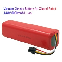 Roborock S50 S51 14.8V 6000mAh Lithium replacement rechargeable battery for Xiaomi mi robot vacuum cleaner accessories parts
