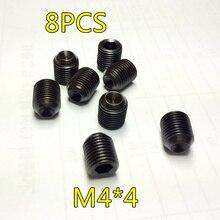 8 шт. M4* 4 Grub винт с шестигранной головкой безголовое RC Автомобильное оборудование 1/10 HSP 02099 запасные части