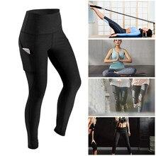 Femmes de Haute Taille des Pantalons De Yoga Courir Pantalons Collants  Ventre Contrôle Entraînement de Course e09f01b2d5e