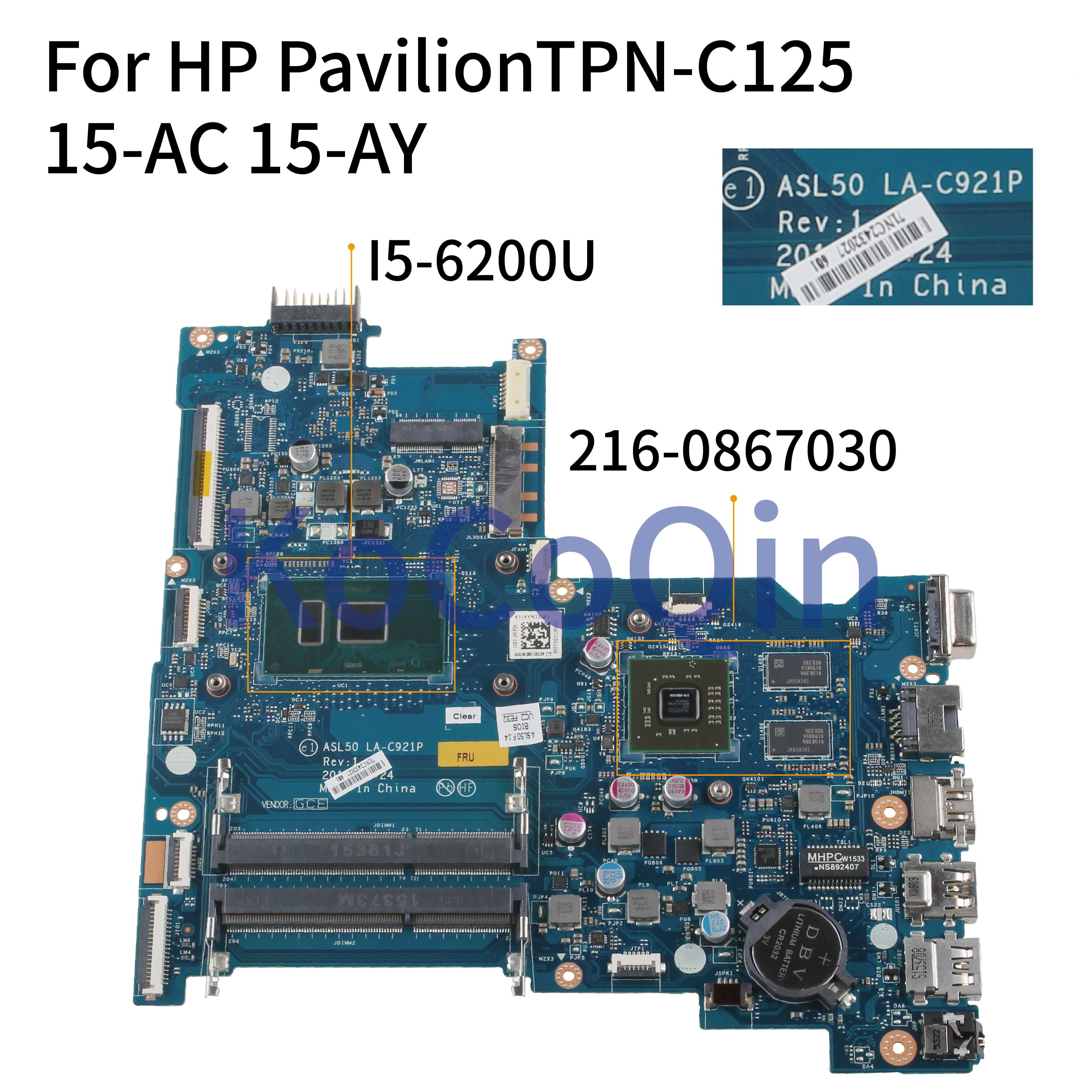for HP 15-AF Laptop Motherboard with A6-7410 R5 M330//1GB GPU DDR3 813971-001 813971-501 ABL51 LA-C781P 100/% Working
