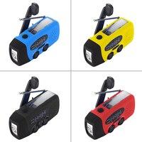 Portable Radio Solar Radio Hand Crank Self Powered Emergency Radio AM FM With LED Flashlight Radio