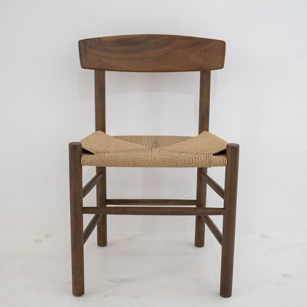 some home furnishing black walnut short back full woodmensal simple log desk mori fresh style dining ch177 natural side chair walnut ash