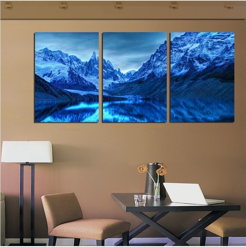 Awesome Hot Sales Cool Colors Wall Painting Of Iceberg Wall Pictures For Living Room  Ice Moutain Canvas Art Unique Gift For Friend In Painting U0026 Calligraphy  From ... Design