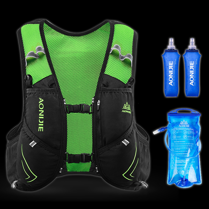 AONIJIE 5L Outdoor Sports Backpack Women / Men Marathon Hydration Vest Pack For Exchange Lightweight Cycling Hiking Water Bag