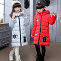 -30 degree children's down jacket for girls clothes 2016 Girl Long Fund Thickening kids clothes Loose Coat Magic Hat parka 469