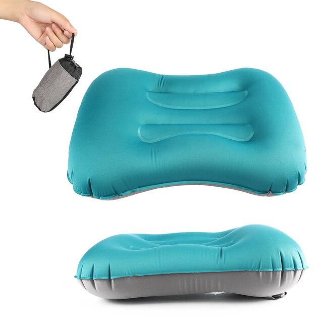Alfombrilla de Camping multifuncional portátil ultraligero TPU viaje al aire libre almohada inflable suave compresible viaje cuello de aire Pillow0.2