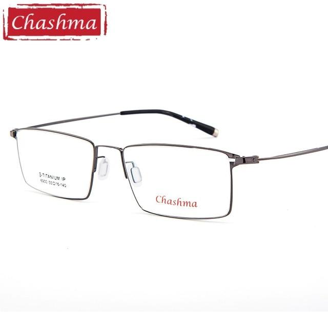 Chashma Senhores Qualidade Quadros De Titânio Óculos De Titânio Puro Quadro  Lentes Ótica Superior Luz Fina eaf57add91