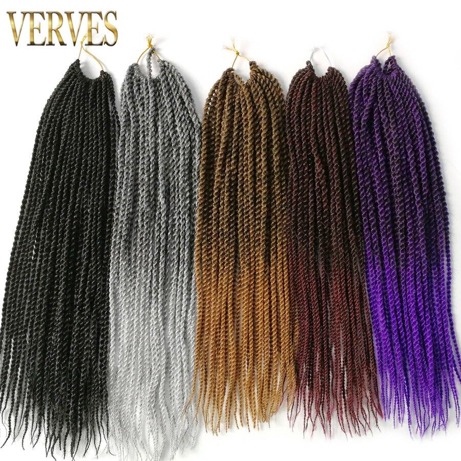 VERVES Ombre Crochet Braids 1 pack, 30 strands / pack 18 '', små - Syntetiskt hår - Foto 6
