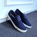 2017 spring autumn men breathable canvas shoes fashion casual shoes flat with low lazy shoes male white Vulcanize Shoes black