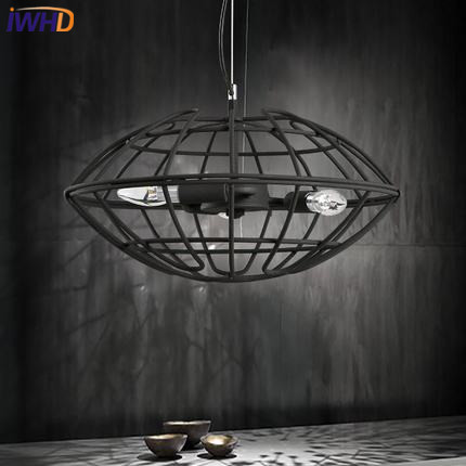 IWHD Iron Lampara Black Vintage Industrial Lighting Pendant Lights Style Loft Retro Pendant Lamp Kitchen Home Lighting Fixtures iwhd rust retro vintage pendant lights led edison style loft industrial lamp metal iron rustic hanging light lampara colgante