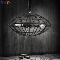 IWHD żelaza Lampara czarny Vintage oświetlenie przemysłowe wisiorek światła styl lampa wisząca retro loftowa kuchnia oprawy oświetleniowe do domu w Wiszące lampki od Lampy i oświetlenie na