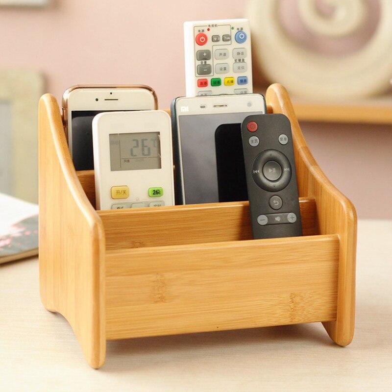 Bambou télécommande multifonctionnel boîte de rangement de bureau boîte de rangement d'articles divers boîte de rangement pour les cosmétiques de stockage