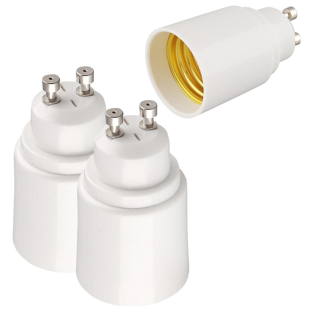 GU10 To E27 Lamp Holder Base Bulb Socket Adapter GU10 Male To E27 Female Fireproof LED Lighting Adapter Converter