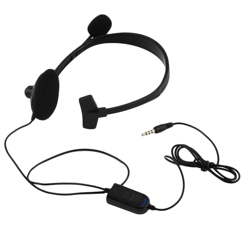 3.5mm Jack Wired Earphone Gaming Headphones Single Side Game Headset Noise Cancelling wi ...