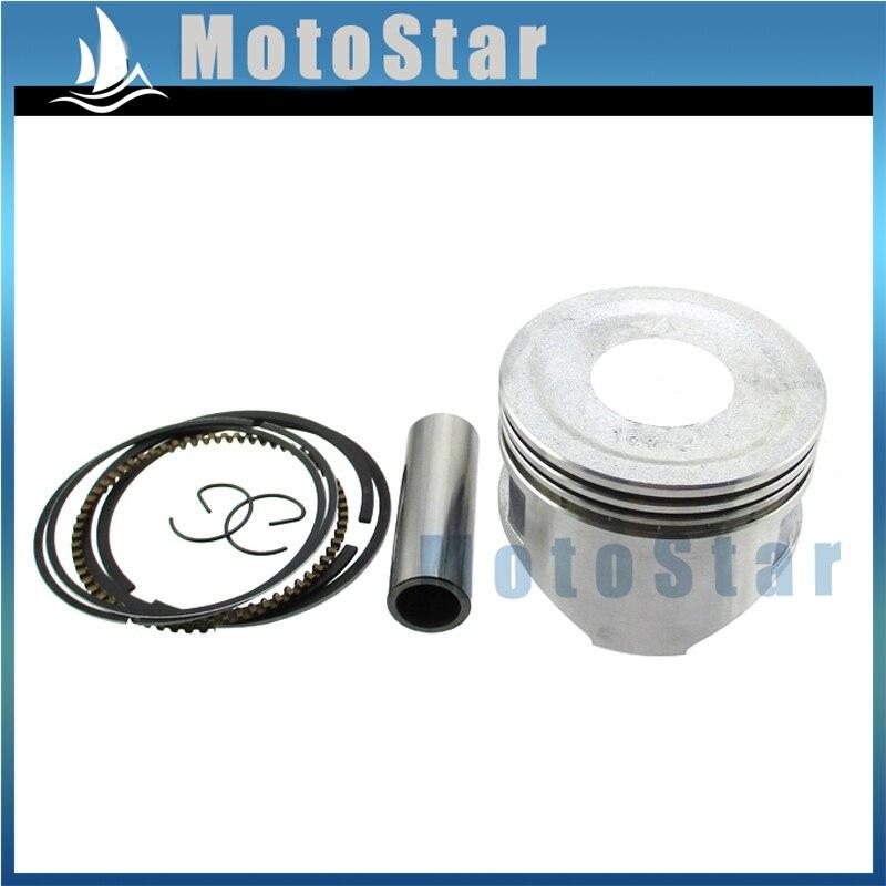Eerlijkheid 68mm Standaard Sized Zuigerveer Set Voor Honda Gx160 5.5hp Gx200 6.5hp Go Kart Mini Fiets Bekwame Vervaardiging