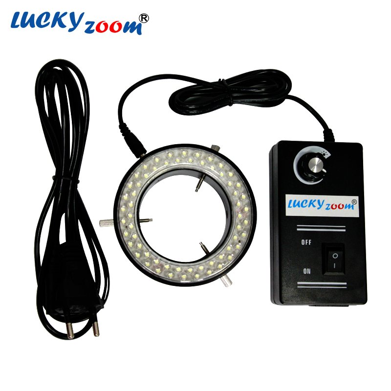 Lucky Zoom New Arrival 60 LED Adjustable Ring Light illuminator Lamp For STEREO ZOOM Microscope EU/RU/US Plug With Low Price sanrenmu sk009d lucky number 9 carabiner with key ring