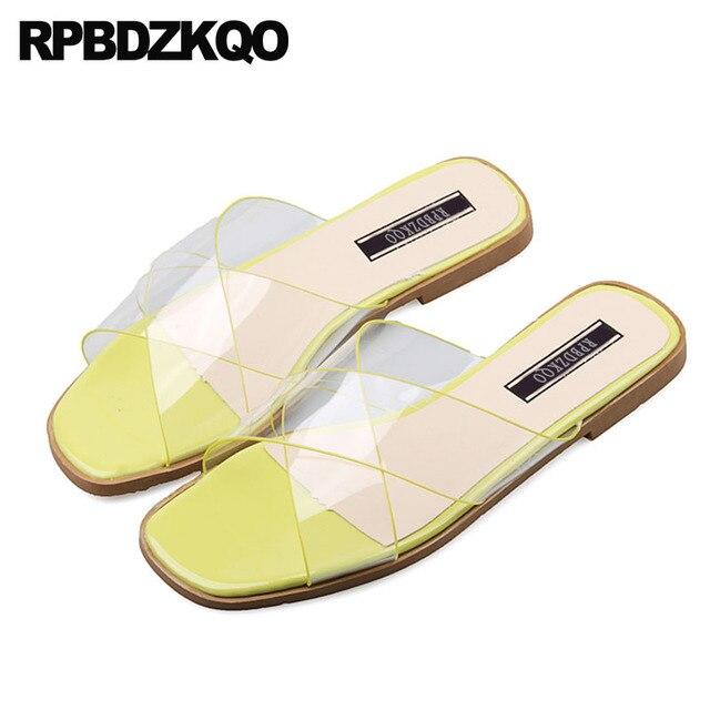 Clear Gl Fashion Plastic Beach Designer Shoes Women Luxury 2018 Korean Slides Chinese Slippers Transpa Sandals