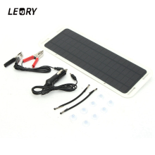 LEORY 5W 18V Solar Panel Monocrystalline Waterproof Multi-Purpose Solar Cells Charger For Mobilephone Cars Boat Motorcycle