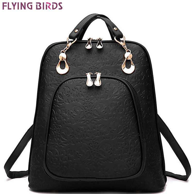 FLYING BIRDS women backpack leather backpacks women bag school bags backpack women s travel bags Rucksack