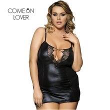 Comeonlover-lencería Sexy Para Mulheres Renda, lencería de cuero de gran tamaño con encaje de pestañas, bianceria Intima, RI70030