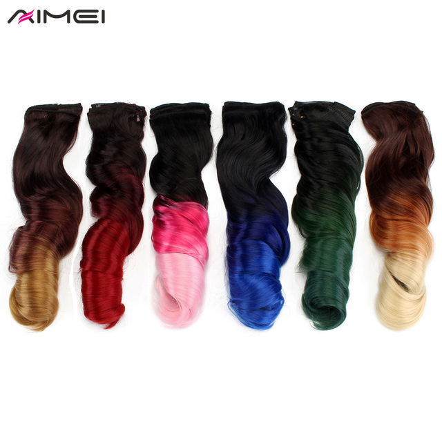 Aliexpress Buy Aimei 20 Synthetic Clip In Hair Extensions