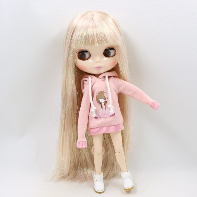 TBL Neo Blythe Doll Shiny Blonde Hair Jointed Body