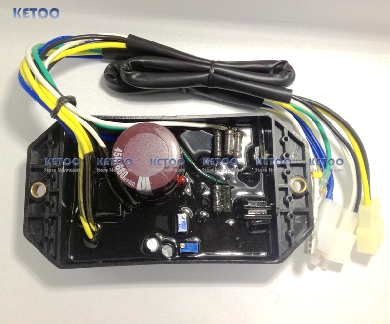 цена на 10 Wires Diesel Generator AVR For 186F 178F KI DAVR 50S fast shipping
