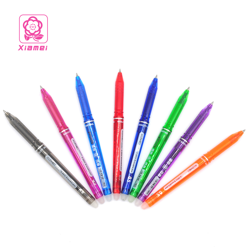 Xiamei 12pcs/set 8 Kinds of Styles Rainbow Erasable Pen 0.5mm Creative Drawing Gel Pen Student Stationery Office Pens for School 12pcs erasable gel pen 0 5mm erasable pens black gel ink pens set school students stationery for take notes edit papers mayitr