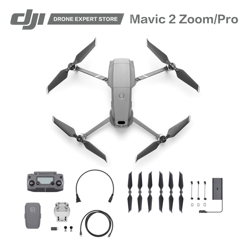 Original DJI Mavic 2 Pro / Mavic 2 Zoom 4K Video Professional Aerial Photography Wi-Fi FPV RC Drone with Camera