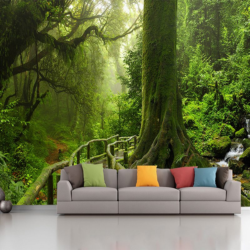 custom photo wallpaper murals living room sofa bedroom backsplash decor 3d Green Tree Forest wall paper european church square ceiling frescoes murals living room bedroom study paper 3d wallpaper