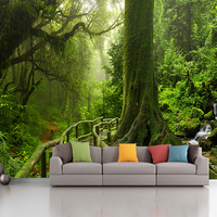 custom photo wallpaper murals living room sofa bedroom backsplash decor 3d Green Tree Forest wall paper